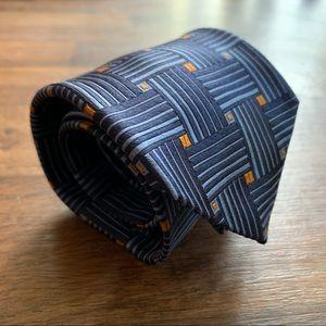 "Robert Talbott ""Estate"" Blue Geometric Pattern Tie"